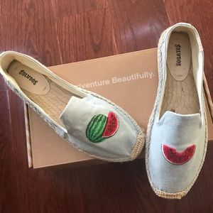 NEW! Soludos watermelon embellished espadrilles 🍉